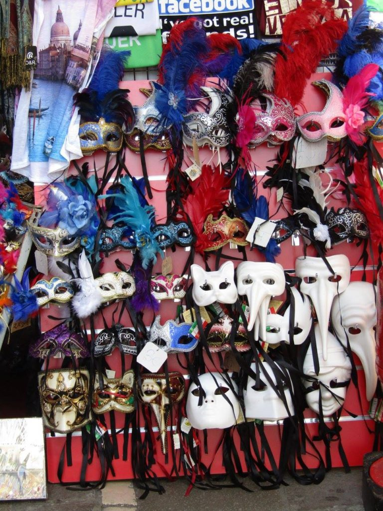 Venice masks shop window