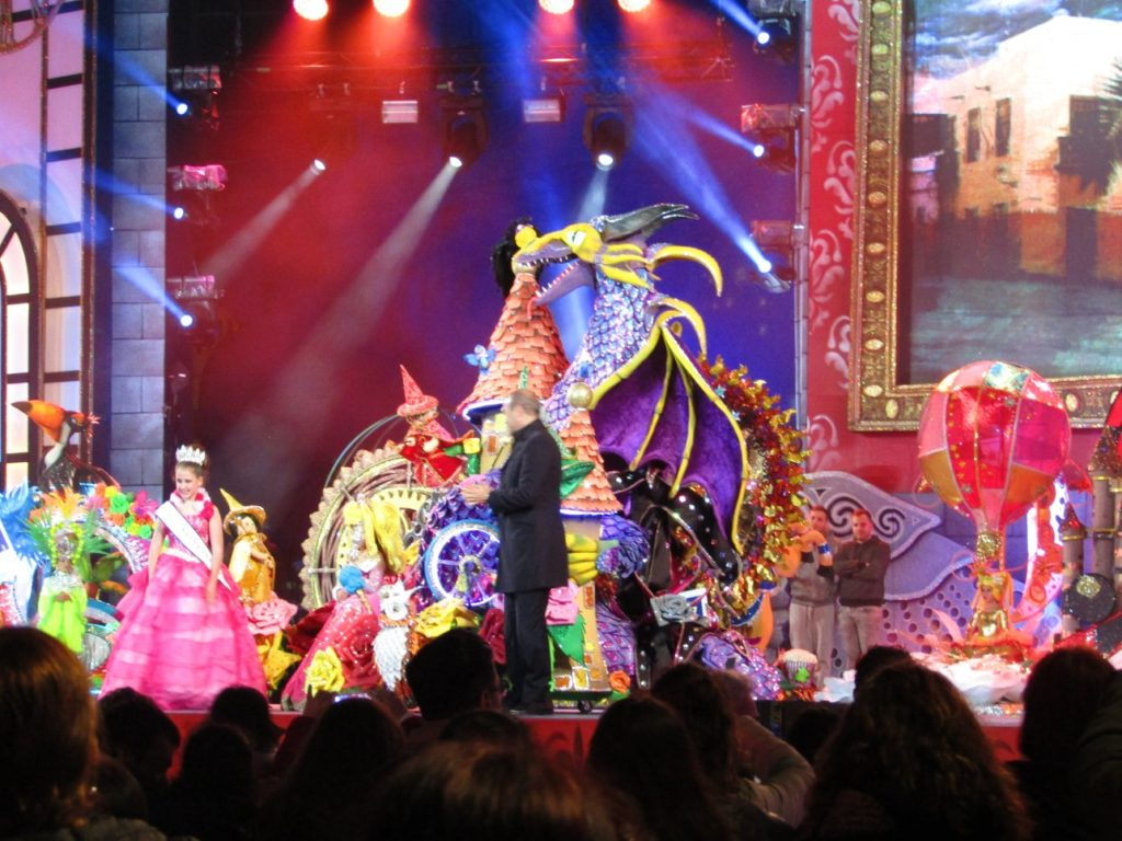 Election of the kids' Queen of the Carnival Las Palmas de Gran Canaria