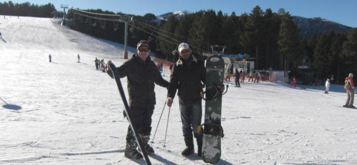 Andorra ski piste snowboarding