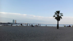 Sant Sebastian Beach Barcelona in the summer