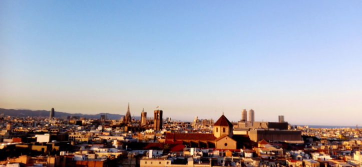 Barcelona in the summer Barcelo rooftop