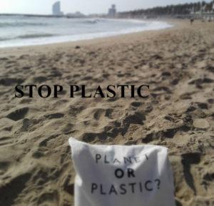 Reduce Plastic Barcelona Beach