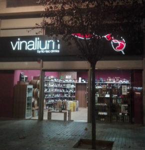 Vinalium wine store in Barcelona Poblenou