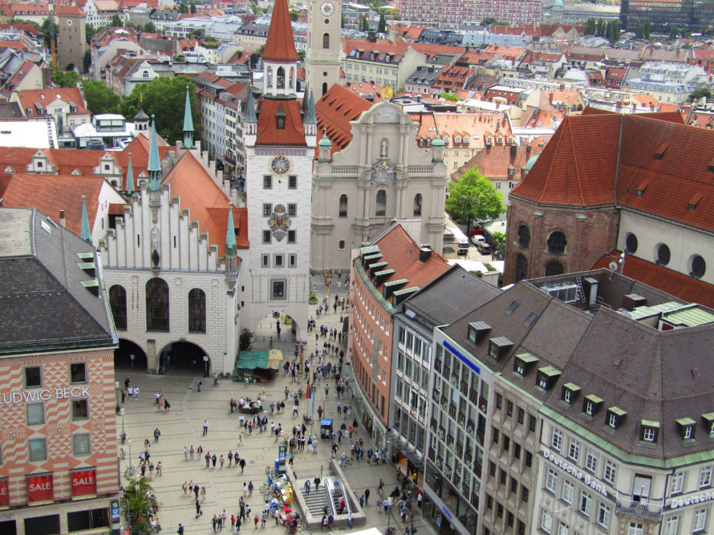 View from Neues Rathaus Munich