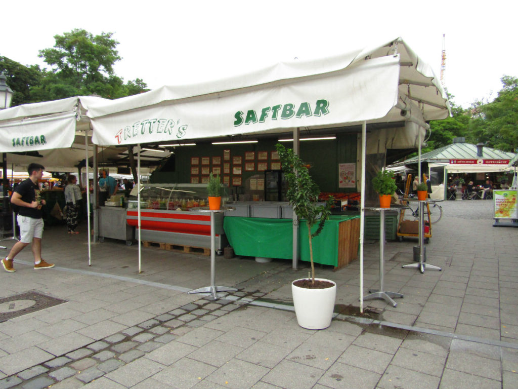Viktualienmarkt Fresh juice Munich Germany