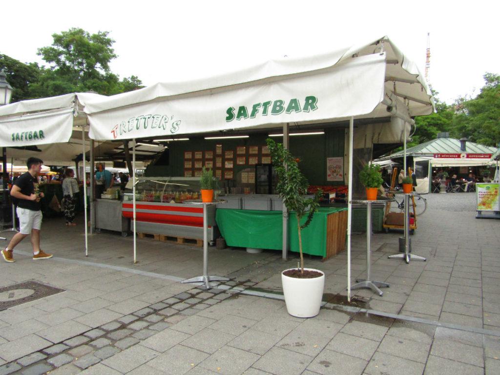 Viktualienmarkt Fresh juice Munich Germany