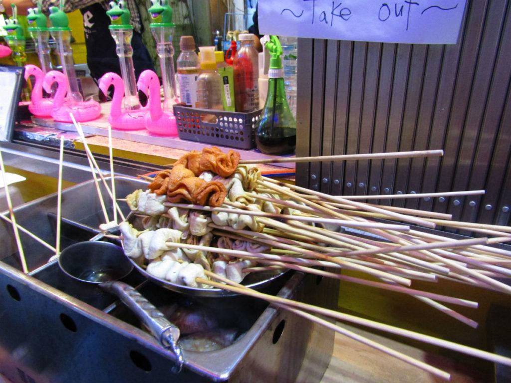 Nambu night market food stalls