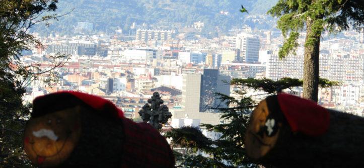 Caga Tio Nadal Montjuic Barcelona view