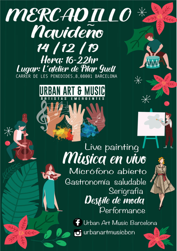 Urban art and music Christmas Market Barcelona flyer