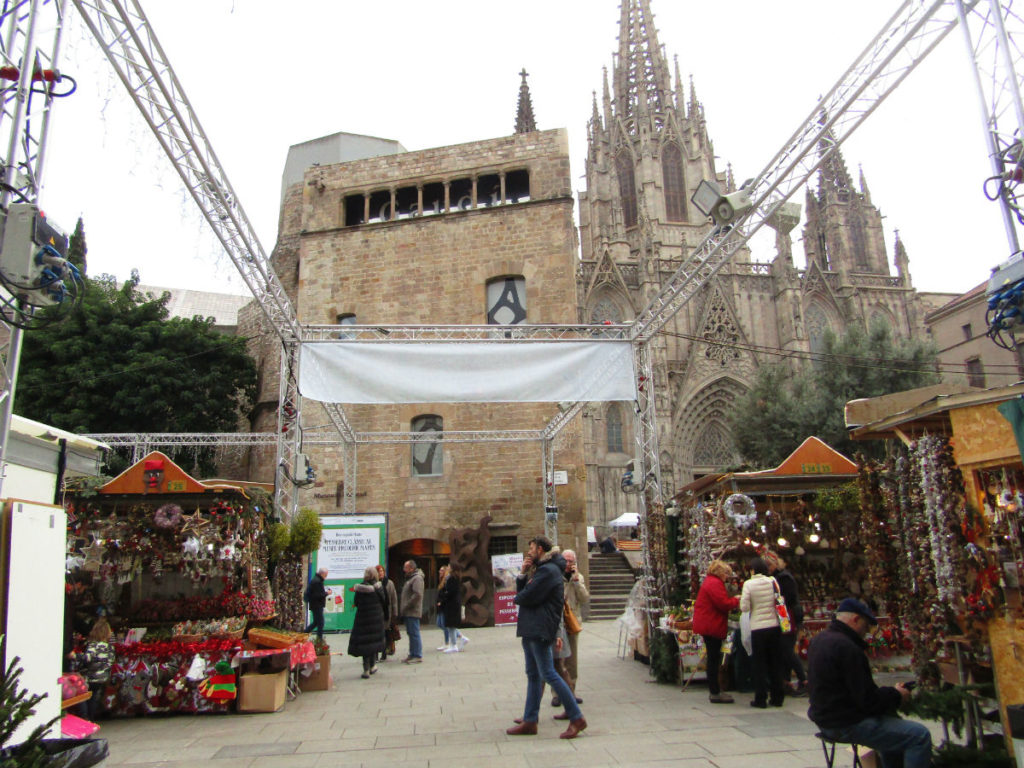 Christmas Market at the Cathedral of Barcelona