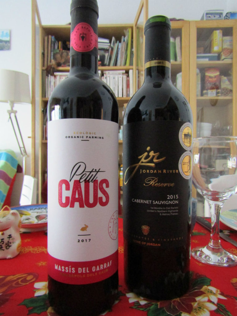 Local Catalan wine and Jordan wine presents to share for Christmas with friends and family in Barcelona