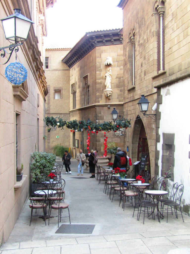 Christmas decoration at Poble Espanyol Barcelona