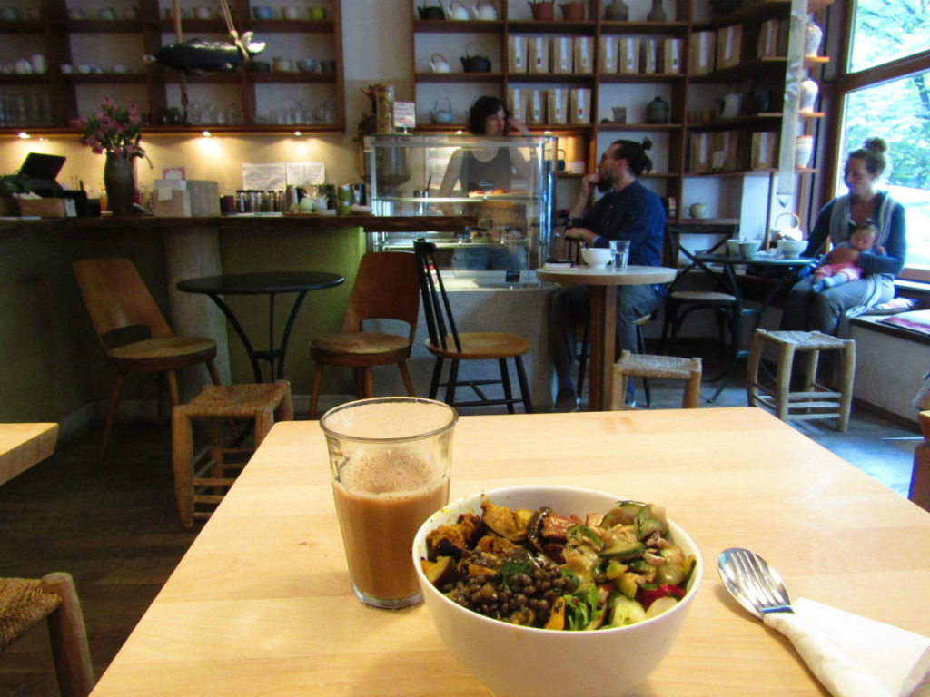 Healthy resolution with food on holidays in Munich organic food