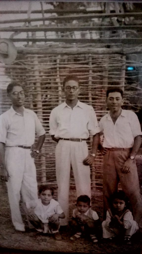 My grandfather on the left, in his youth in Madagascar - expat life