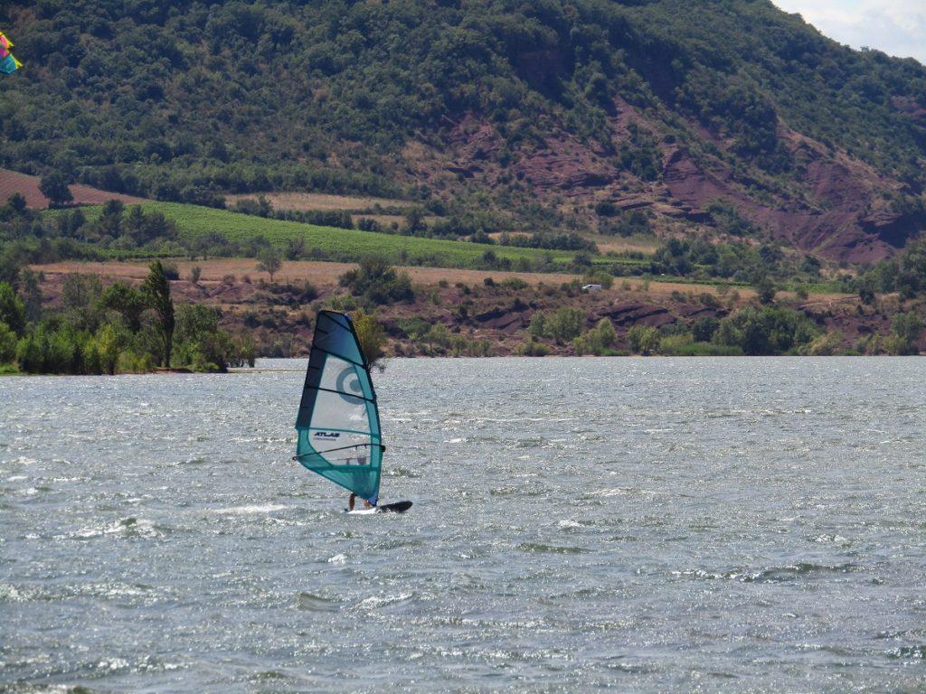 Windsurfing on the Salagou lake