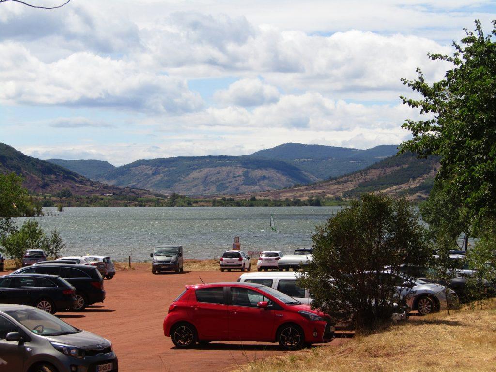 Parking at the Salagou lake