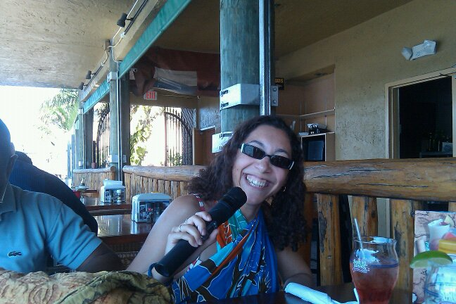Karaoke at a bar in Hollywood beach, Florida