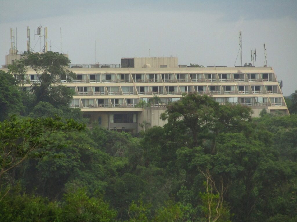 Mass tourism damaging the natural environment of Iguazu falls with this ugly hotel in Argentina