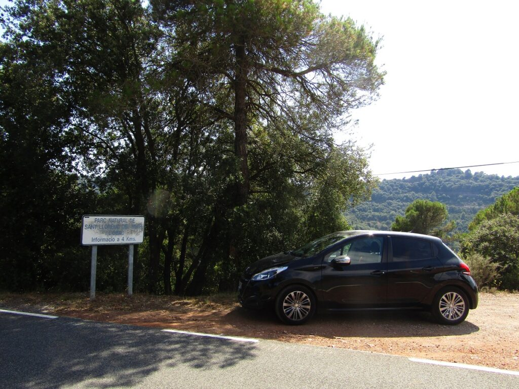 Parc Natural de Sant Llorenc de Munt by car to go to Mura