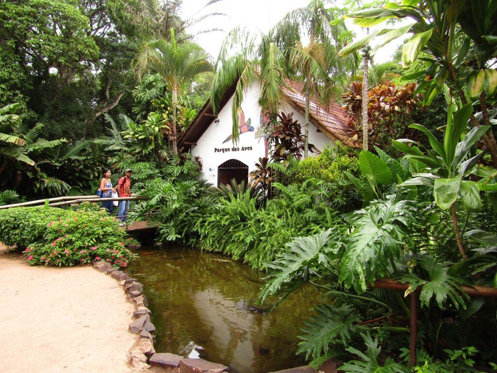 Entrée au parc ornithologique Parque das Aves de Iguazu au Brésil