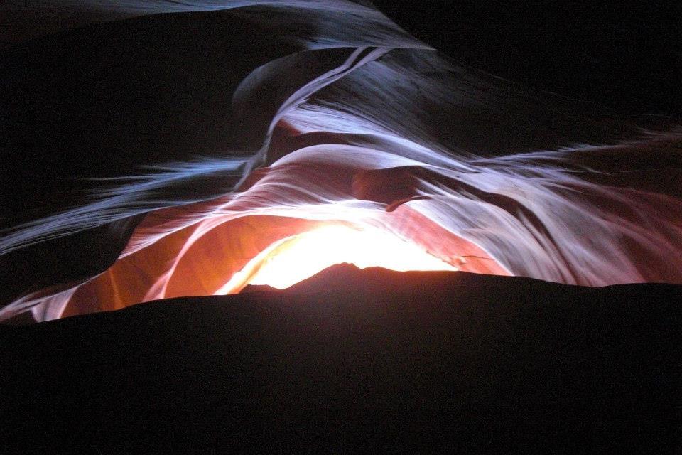 Antelope canyon looking like a sunset