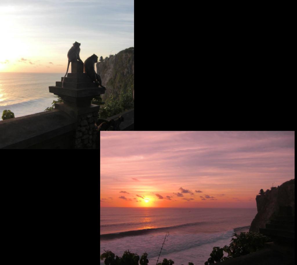 Bali Uluwatu temple sunset