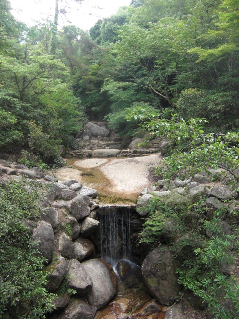 Momijidani Park Nature on the way to Miyajima Mount Misen Japan