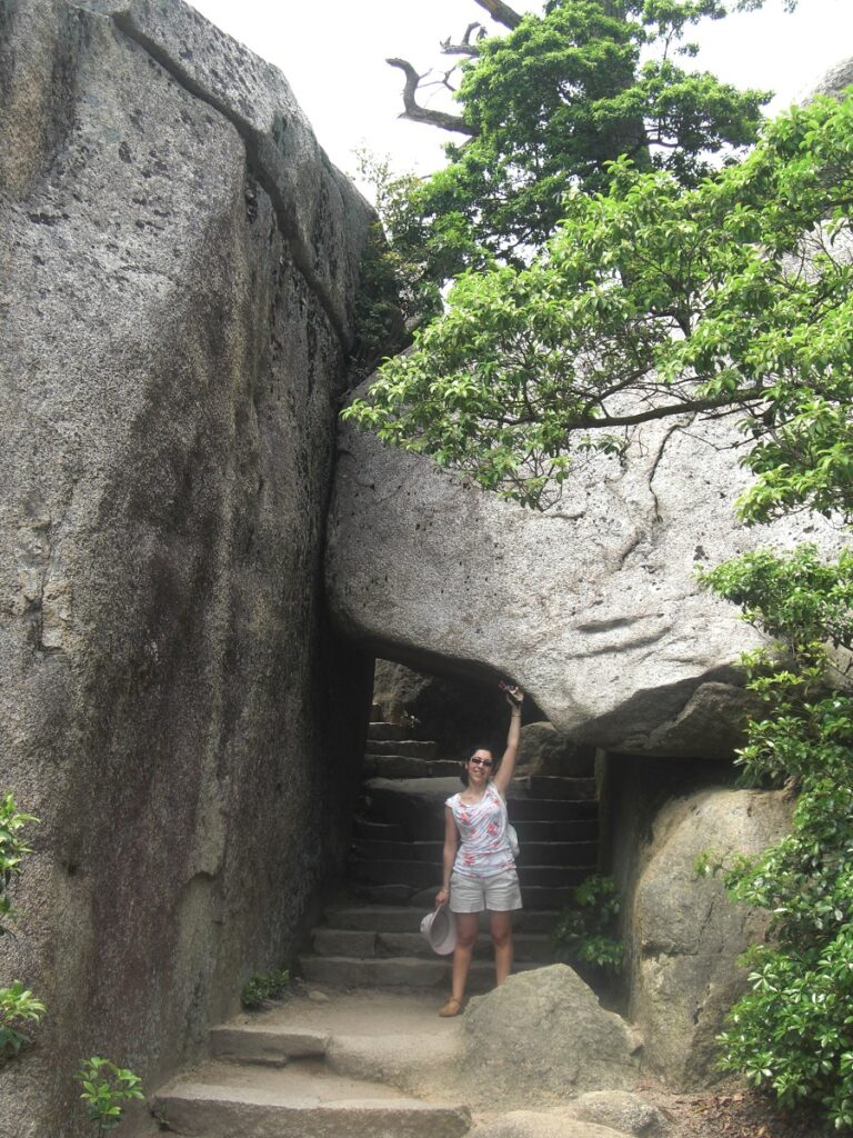 On the way to the top of Mount Misen in Miyajima Japan
