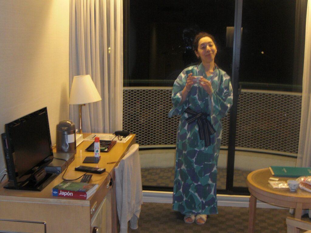Onsen attire courtesy of Aka Hotel Miyajima
