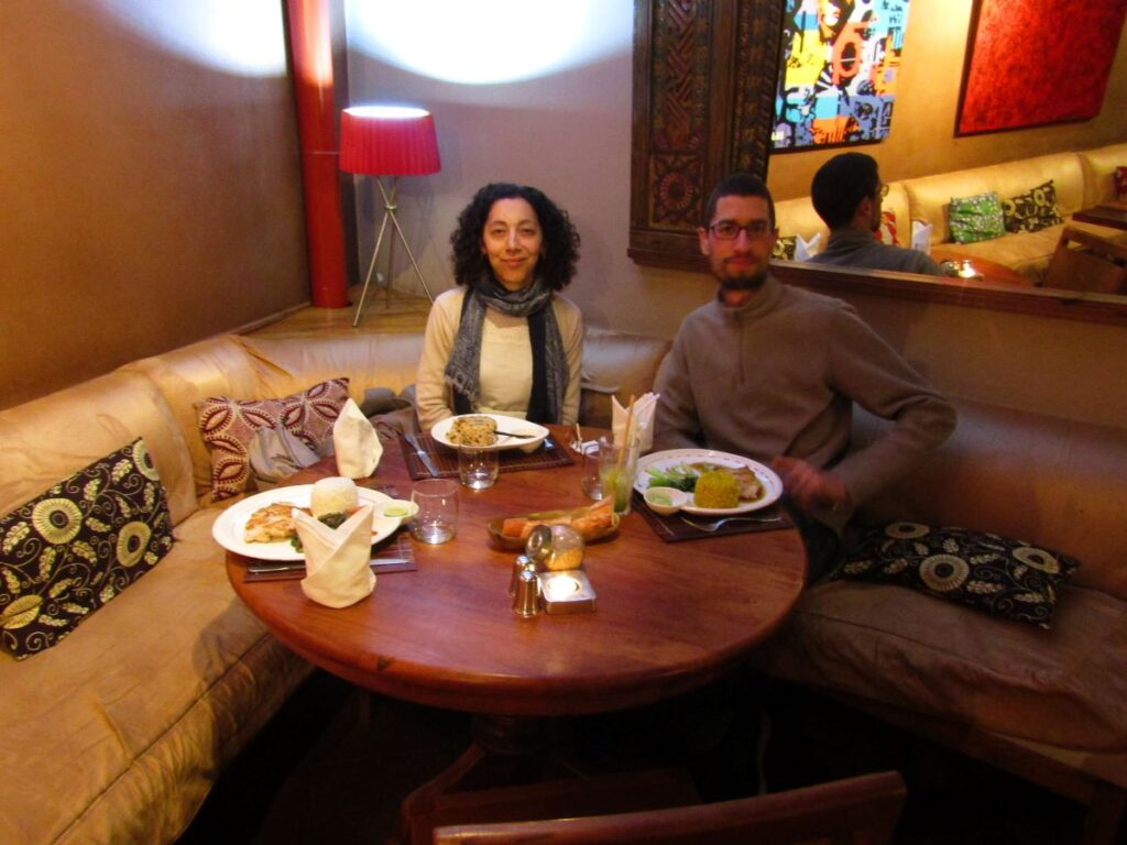 Dinner at Kudeta in Antananarivo enjoying delicious local food with my special diet