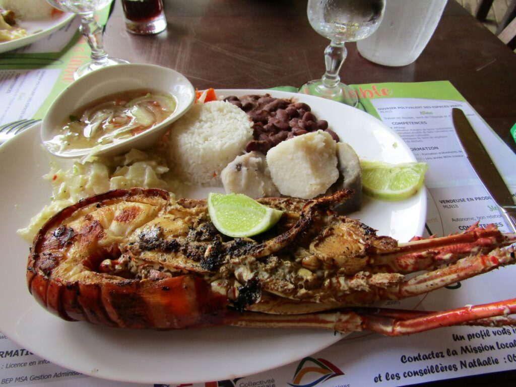 low Fodmap special diet menu in a restaurant in Martinique