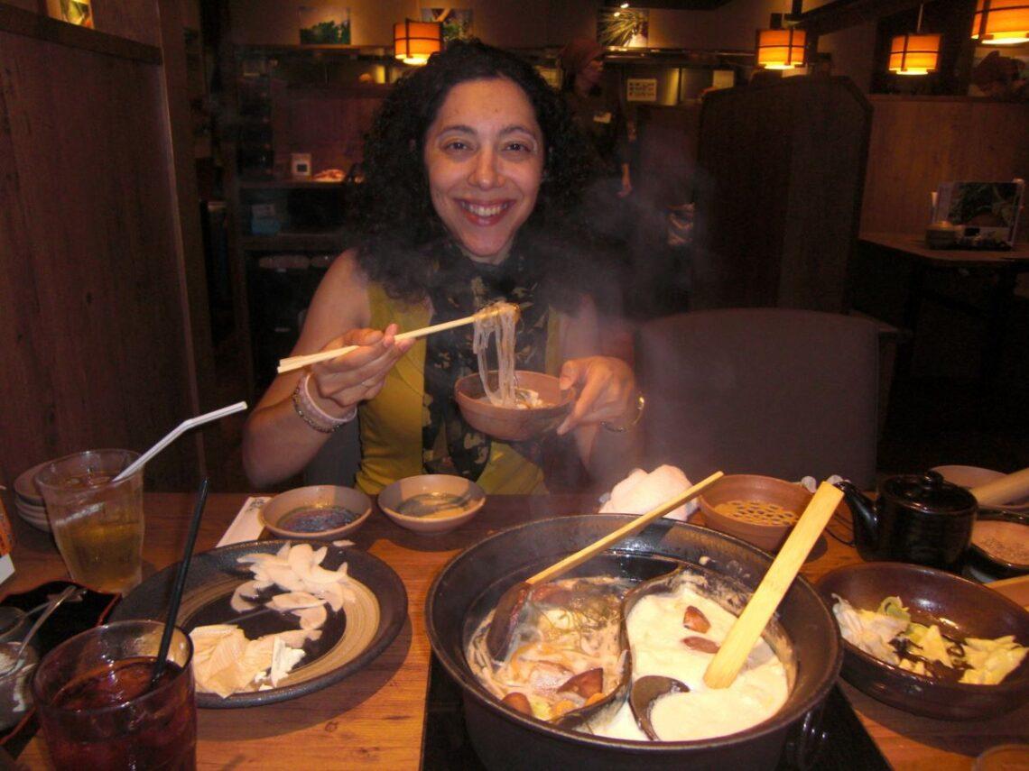 In the restaurant in Japan